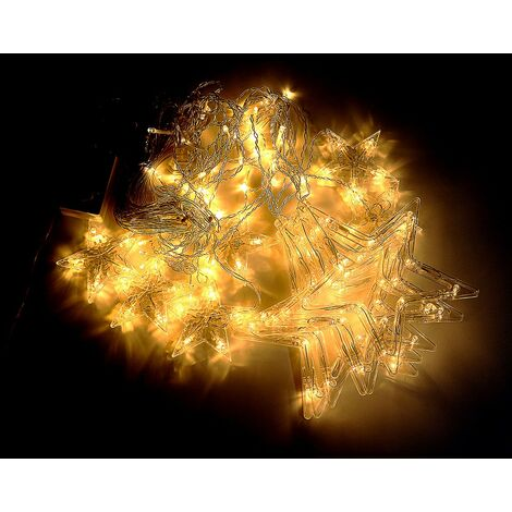 138Pcs LED Star Light House Style Fairy String Boda Lámpara colorida Decoración de fiesta (Blanco cálido, Solo 1PC Star Light - Enchufe de la UE)