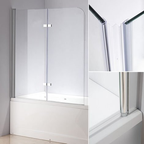 139x119 Cloison de douche verre de cloison de baignoire pliante
