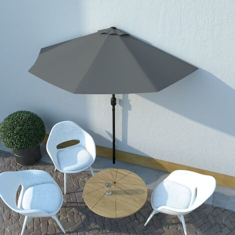 1.3m Traditional Parasol by Freeport Park - Anthracite
