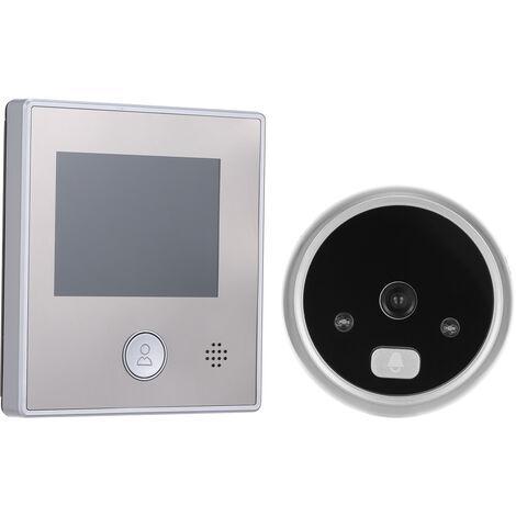 "main image of ""1.3MP Peephole Door Camera 2.8 Inch Color LCD Screen Monitor Video Door Viewer Door Eye Doorbell Photo Taking/Video Recording for Home Security,model:Silver"""