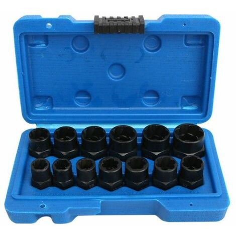 13pcs Bolt Nut Screw Puller Puller Socket Tool Kit Removal Set Bolt Nut Screw Removal Socket Wrench