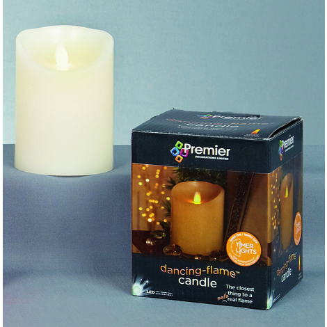 13x9cm Battery Operated Traditional Dancing Flame Short LED Candle