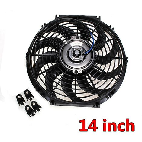 14'' 12V 80W 676CFM Electric Radiator Cooling Fan with Mounting Kit