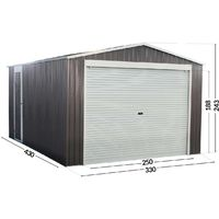 14' 5'' x 11' 2'' Metal Garage Shed - Nevada- with a rolling door -