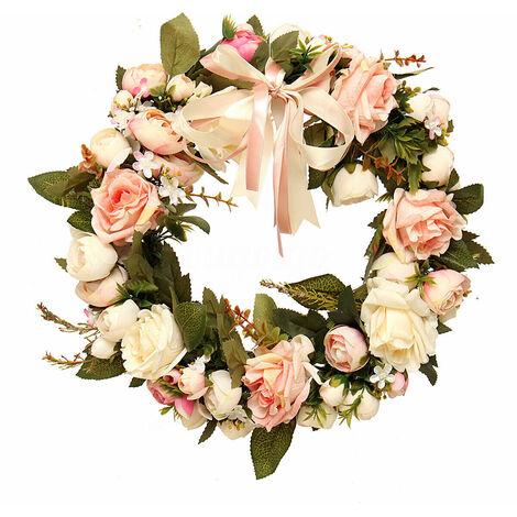 14 '' Artificial Pink Flower Garland Hanging At Home Wedding