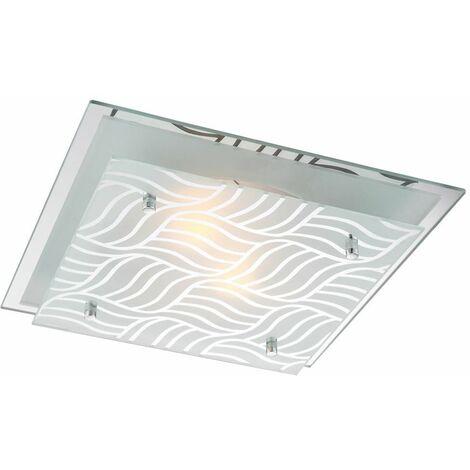14 Watt RGB color de la placa de vidrio de la lámpara comedor luz de techo LED cromo cambio EEK A