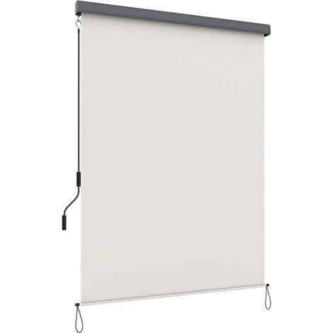 1.4 x 2.5m Senkrechtmarkise für Balkon, Terrasse, mit Grauer Markisenkassette, Vertikalmarkise für außen, Markise für Windschutz, Sonnenschutz und Sichtschutz