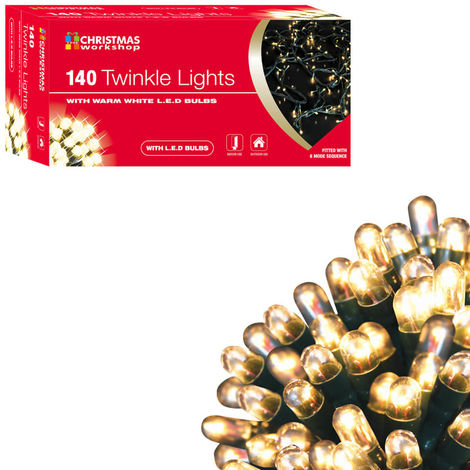 140 LED Christmas Twinkle Lights