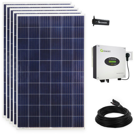 1400 Watt Solaranlage Photovoltaikanlage Plug & Play Komplett Set mit WiFi