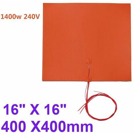1400w 400 X400mm Imprimante 3D Silicone Coussin Tapis Chauffant Chaud Lit