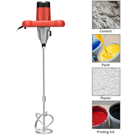 New 1400W Industrial Electric mixer Plaster Paint Cement Mortar Paddle