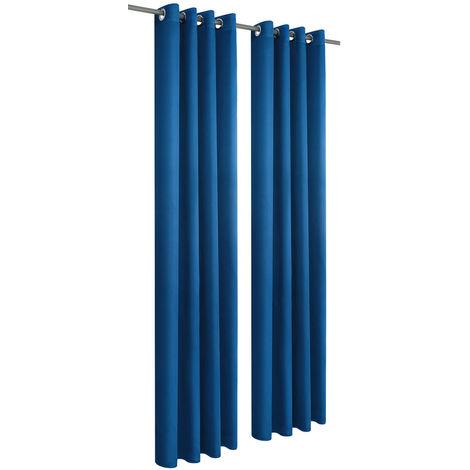 140x245cm rideaux oeillets foulard bleu foulard déco stores moustiquaire pare-vue