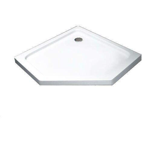 140x90cm Receveur de douche, baignoire en acrylique pour salle de bains, 5cm ultra plat