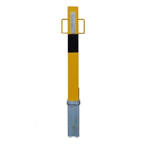 140Y H/D Yellow Removable Security Post with Lift Out Handles (001-3410 K/D, 001-3400 K/A)