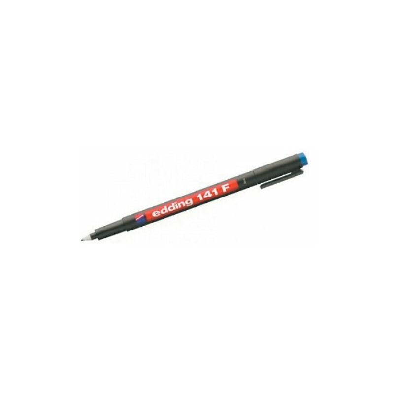 Image of 141F-001 Fine OHP Permanent Marker Black (Pack-10) - Edding