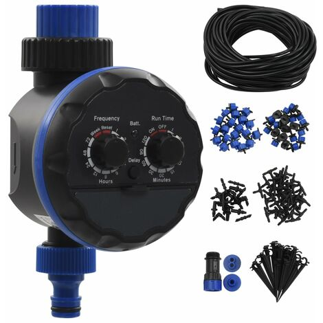 142 Piece Outdoor Automatic Drip Watering Kit with Water Timer