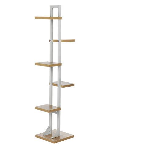 143x30CM 6 Tier Wooden Plant Holder Flower Pot Indoor Plant Storage Shelf