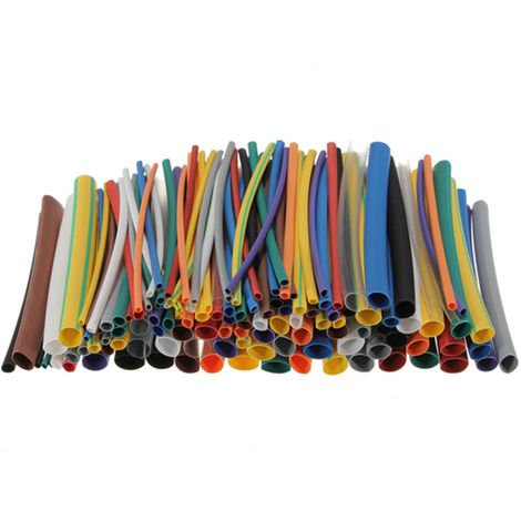 144Pcs 2: 1 Heat Shrink Tubing Rsfr-H 5 Size Assortment For Cable Winding