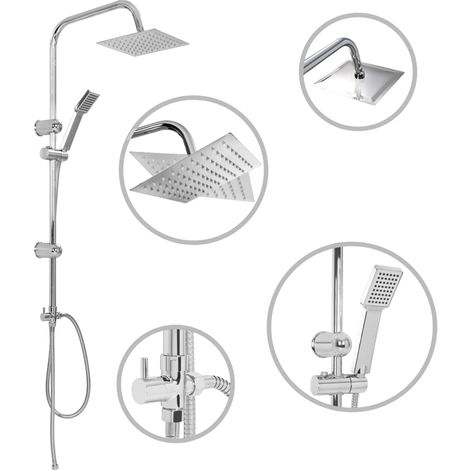 145055 Dual Head Shower Set with Hand Shower Stainless Steel