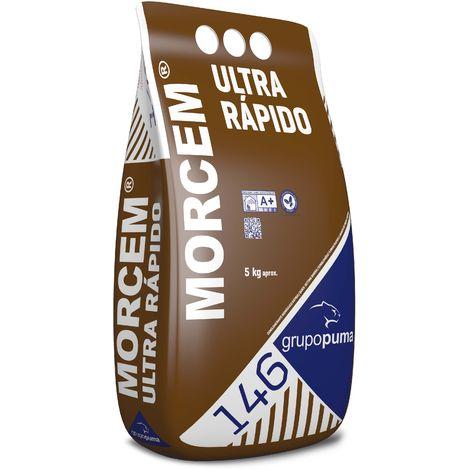 146 Morcem Ultra Rápido: Conglomerante de fraguado rápido. Bolsa 5 Kg Gris