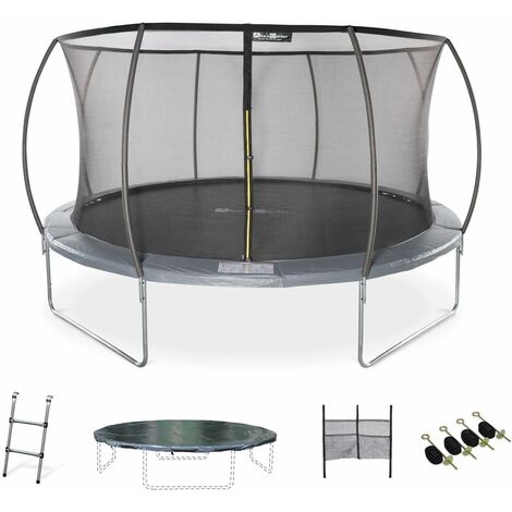14ft Trampoline with accessories kit - Ø430 cm - Venus Inner - New Design - Garden trampoline with curved tubes 4,3m |Quality PRO. | EU standards.