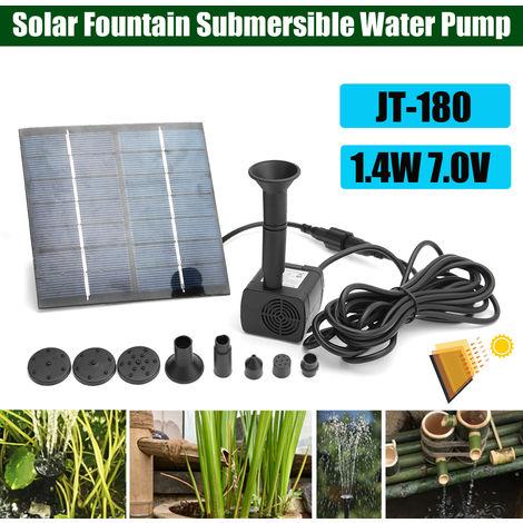 1.4W 7V énergie Solaire Pompe à eau Submersible Pr Fontaine Jardin Bassin étang
