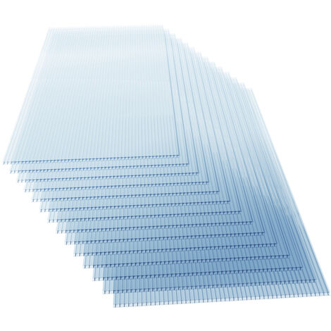 14x Polycarbonate Sheets Greenhouse Glass Replacement Thickness 4mm Twinwall Cold Frame