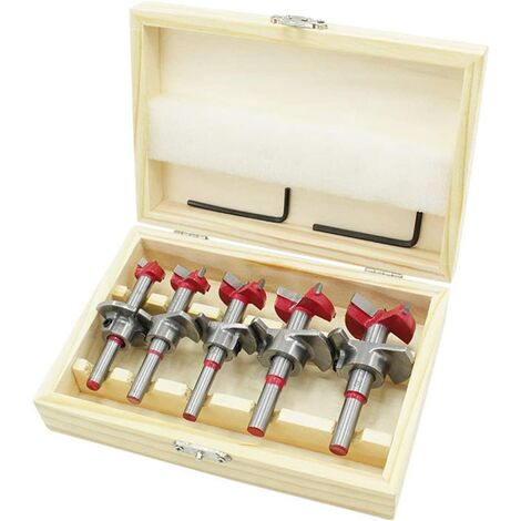 15-35mm Positioning Hole Opener Set, Hard Alloy Flat Wing Drill Adjustable Hinge Reamer Hole Tool, Window Hole Cutter