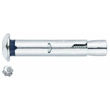 15 Chevilles métalliques anti-rotation inviolable M8 x 60 mm (D. 10 mm) acier zingué