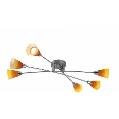 15 de techo Watt LED iluminación de la lámpara de vidrio barra naranja del punto de luz amarilla