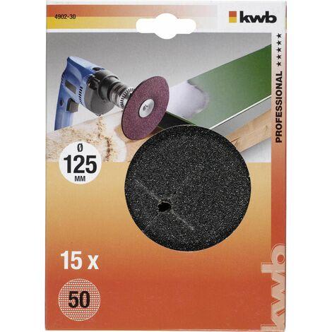 15 discos de lijado para taladro ø 125 mm KWB