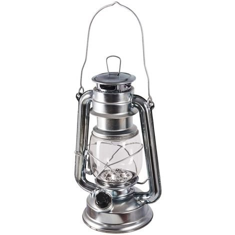 15 Led Hurricane Lamp (Silver)