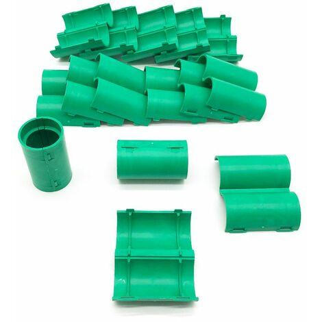 15 manchons de raccordement pour gaine électrique et tube D. 25 mm x L. 50 mm (Vert) - 100% Français - D-Work