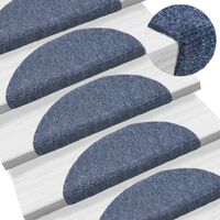 15 pcs Self-adhesive Stair Mats Needle Punch 54x16x4 cm Blue