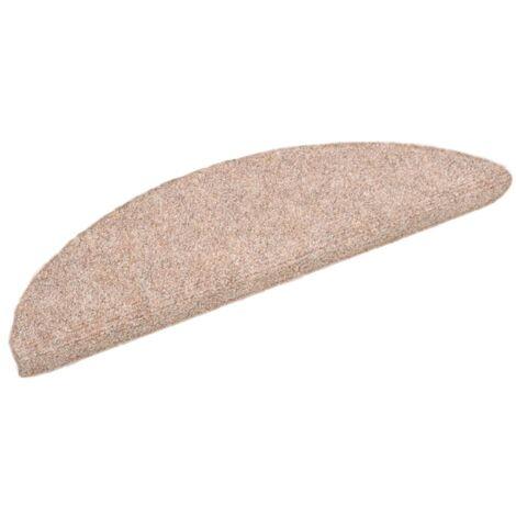 15 pcs Self-adhesive Stair Mats Needle Punch 54x16x4 cm Brown