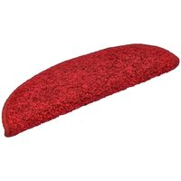 15 pcs Stair Mats Red 56x20 cm