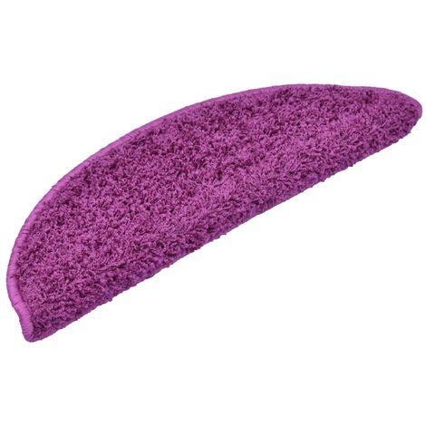 15 pcs Tapis d'escalier Violet 56 x 20 cm