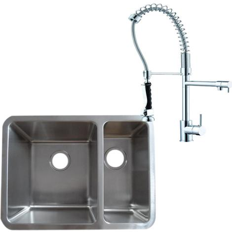 1.5 Stainless Steel Undermount Kitchen Sink & Professional Mixer Tap (KST124 L)