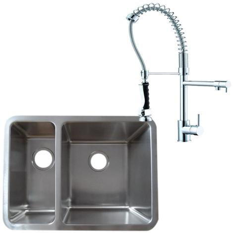 1.5 Stainless Steel Undermount Kitchen Sink & Professional Mixer Tap (KST124 R)