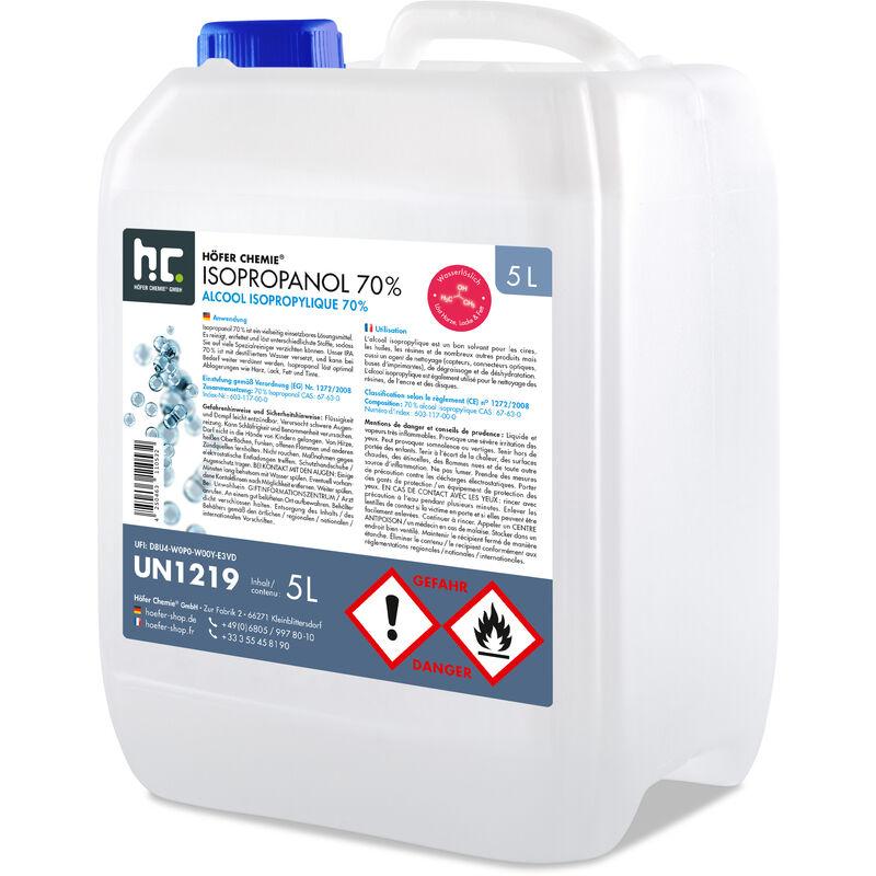 Höfer Chemie - 2 x 5 Litre alcool isopropylique 70%