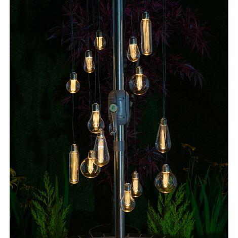 15 x Noma Edison Bulb Chandelier String Parasol Garden Lights 1018005 Lightbulb