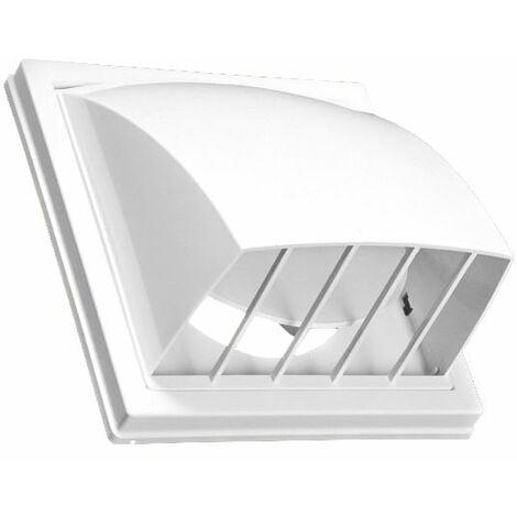 150/160mm Ventilation Capot D'air Non-Retour L'extérieur Couvercle Conduit Blanc