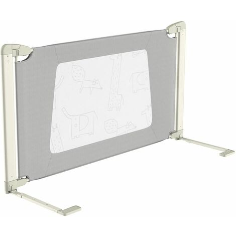 150 cm Barandilla de la Cama Altura Ajustable Barrera de Cama con Accesorios de Conexió para Camas Dobles,Queen y King