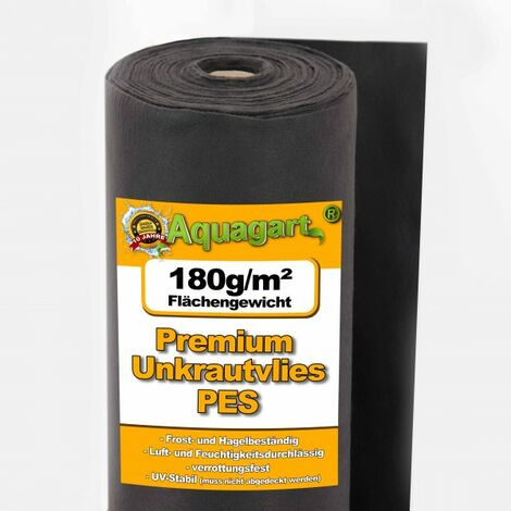 150 m² toile de paillage anti-mauvaises herbes, film de paillage, voile de paillage 180 g, 2 m de large, qualité supérieure