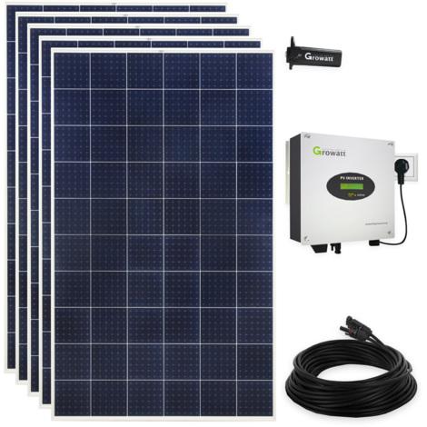 1500 Watt Solaranlage Polykristallin Photovoltaikanlage Plug & Play mit WiFi