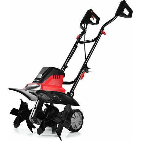 """main image of """"1500W 43CM Corded Electric Garden Tiller Soil Cultivate Rotavator W/ 6 Blades"""""""