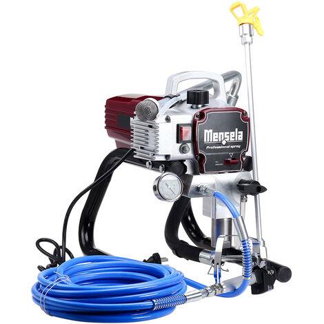 1500W Pulvérisateur de peinture électrique sans air pression Machine à peinture Pistolet de pulvérisation mural Mensela PT-WL1