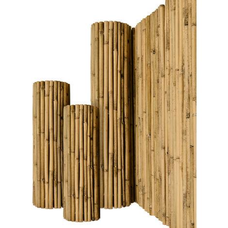 Sol Royal Valla de bambú Protectora SolVision B38 Estera de privacidad Visual y Viento Natural Balcones terrazas Jardines barandas Cerca con cañas Gruesas 90cm, 250cm