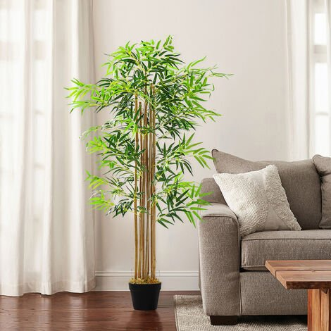 150CM Artificial Bamboo Tree Indoor Outdoor Potted Plant Garden