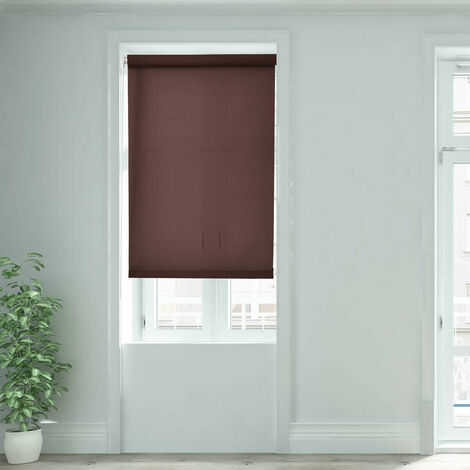 150CM DROP ROLLER BLIND/BLINDS SEMI TRANSPARENT BROWN 55CM